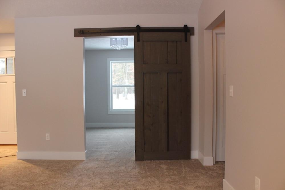 Barn Door Home Office Ranch Floor Plan Texas Township Berchiatti