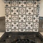 Custom tile blacksplash